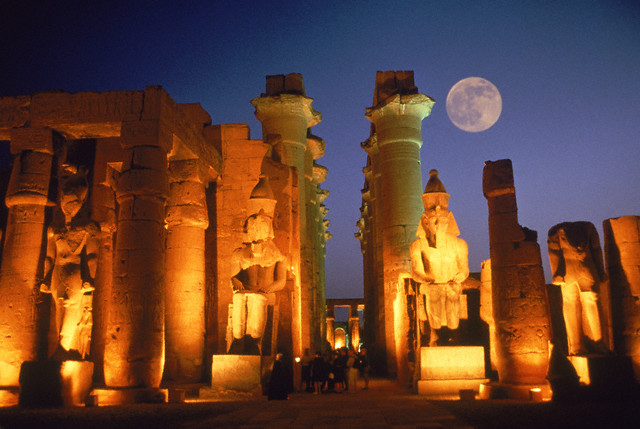 Moon Over the Temple of Luxor