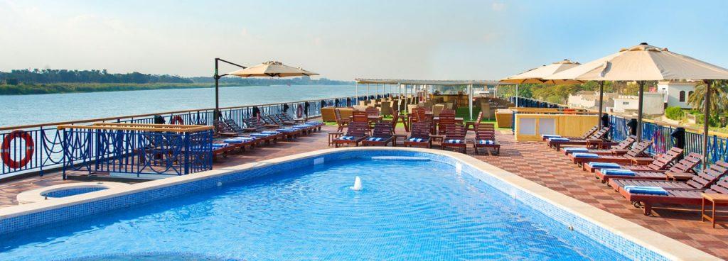 Amwaj Living Stone Nile cruise pool